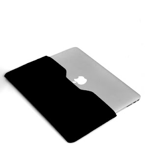 Black Slim PU leather case cover sleeve prefect fit for Macbook Air 11 inch 11""