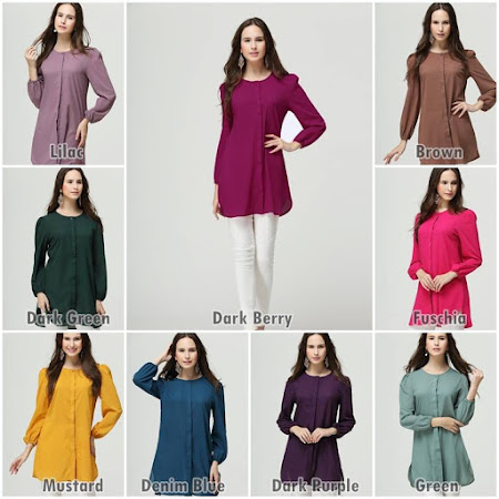 Restock Blouse Mavis Kegemaran Ramai. Blouse  Trendy Sesuai Dipakai Di mana Sahaja