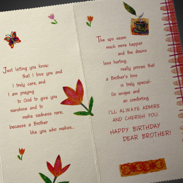 Birthday Cards For Brothers gangcraftnet – Birthday Greeting Cards Brother