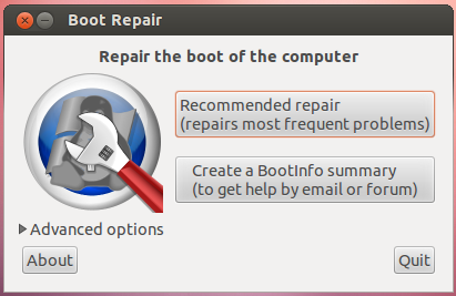 Boot-Repair repairs the GRUB boot loader