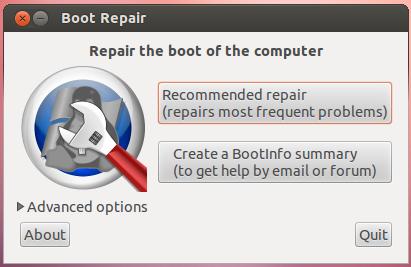 Boot-Repair repairs the GRUB boot loader