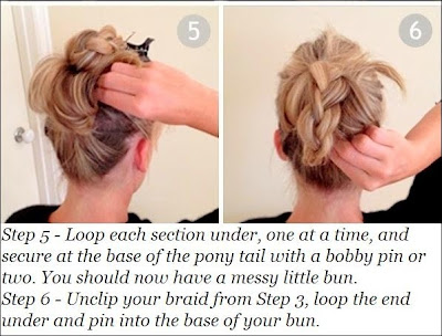 Cute braided hair bun for long hair tutorial
