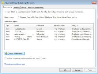 Ipatch need to change permissions on file