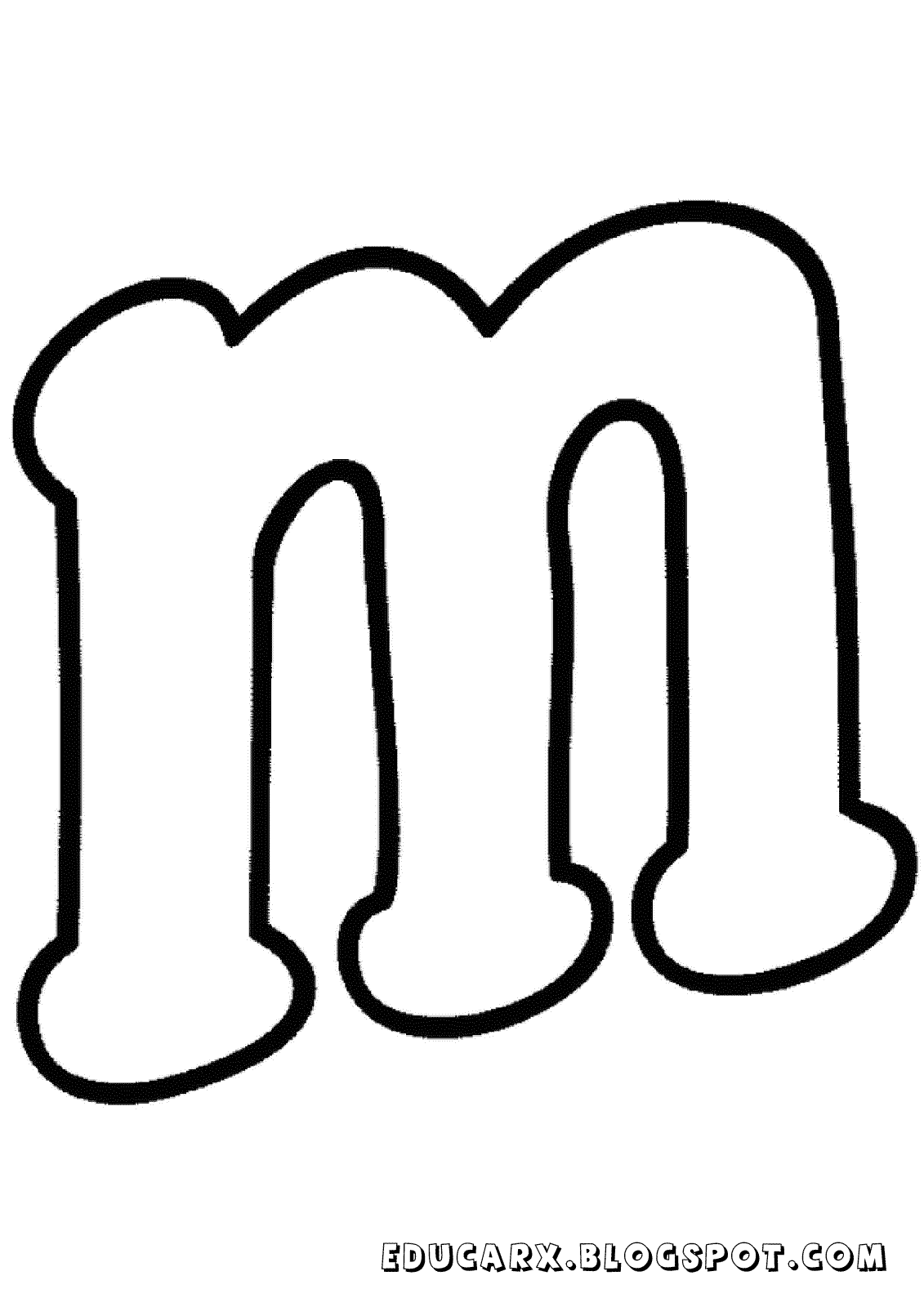 Molde da letra minuscula m