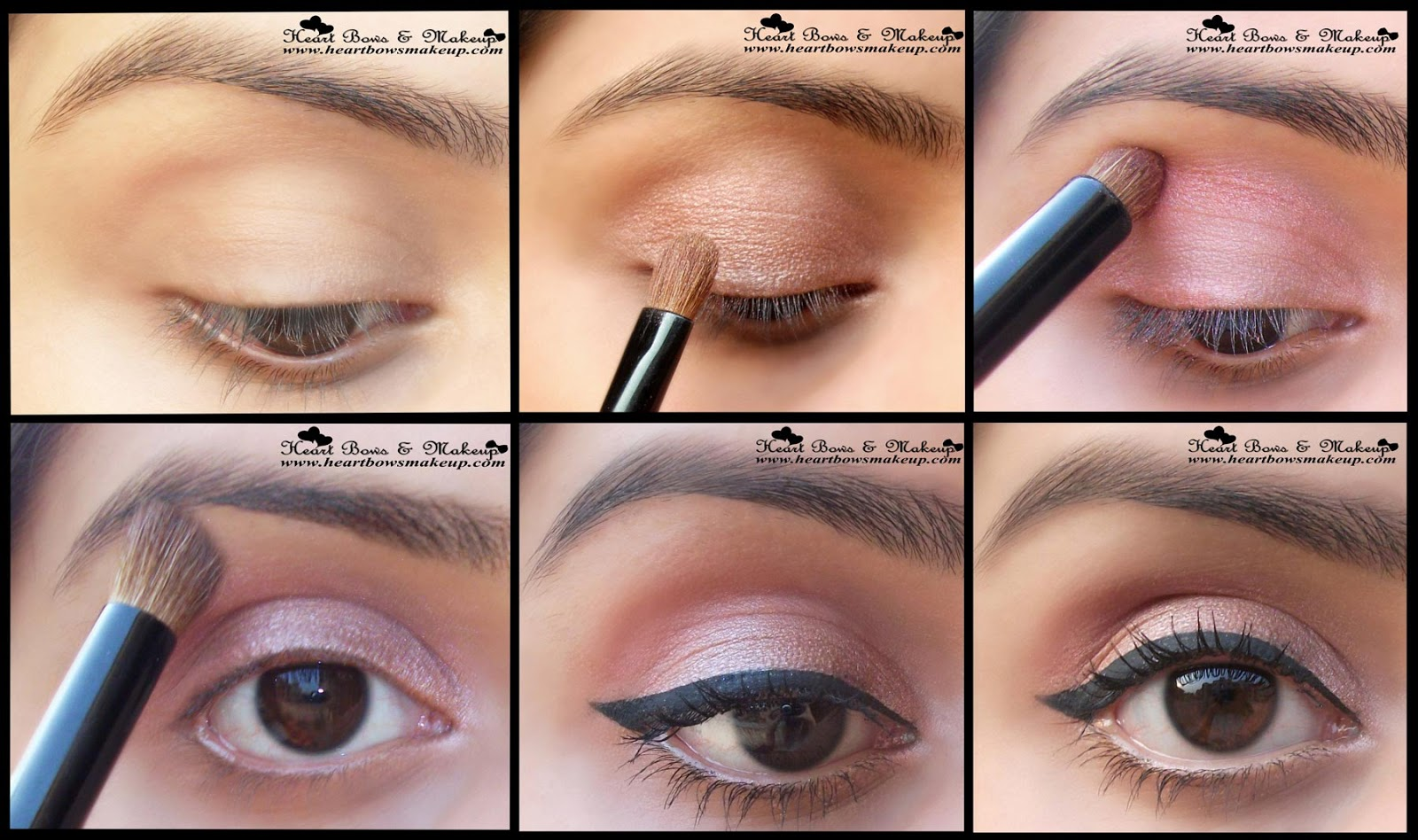 Step By Step Tutorial Everyday/ Office/ Neutral Eyemakeup In 5 Easy Steps - Heart Bows U0026 Makeup