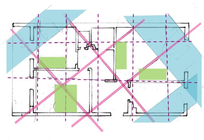 Skica uticaja štetnih zona na stambeni objekat