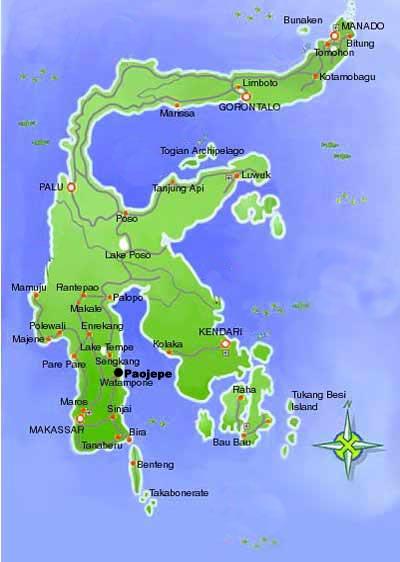 Travelife Time Tanah Sulawesi Peta Wwwgambar