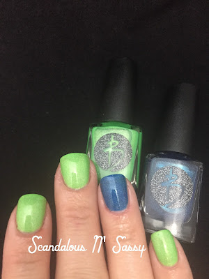Bliss Polish Can You Feel the Beat accented with Karina