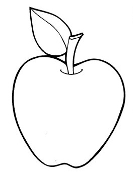 coloring pages about apples - photo#23