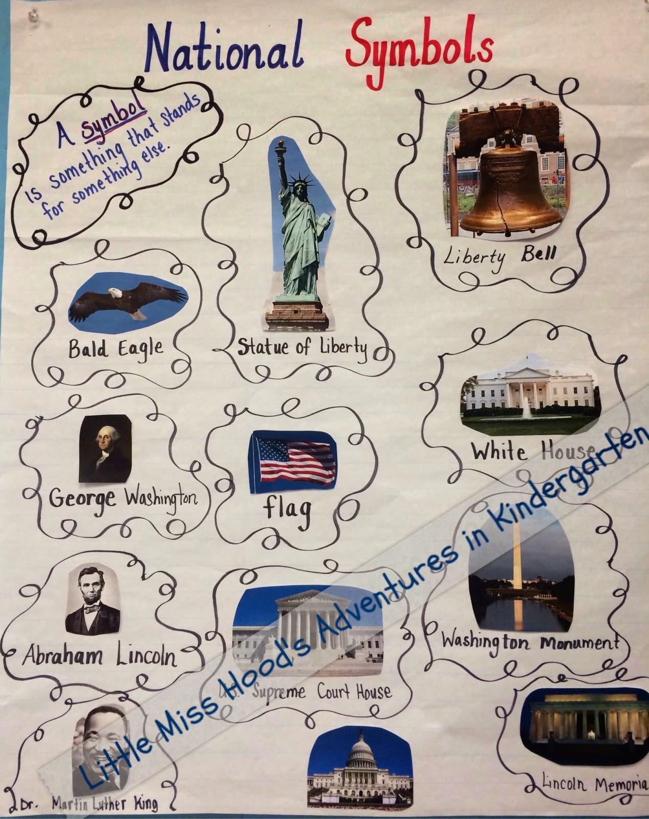Little Miss Hoods Adventures In Kindergarten National Symbols