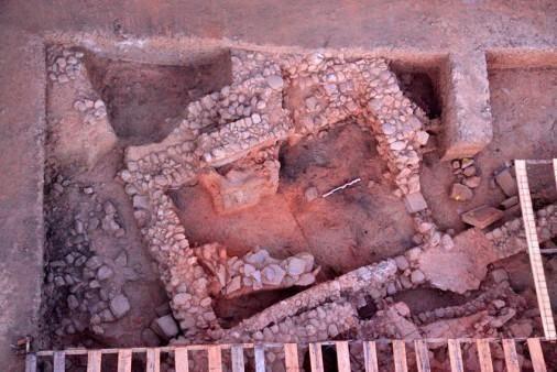 Ο Άγιος Βασίλειος του Ξηροκαμπίου: Α10 Δωμάτιο (ανασκαφικής περιόδου του 2012).