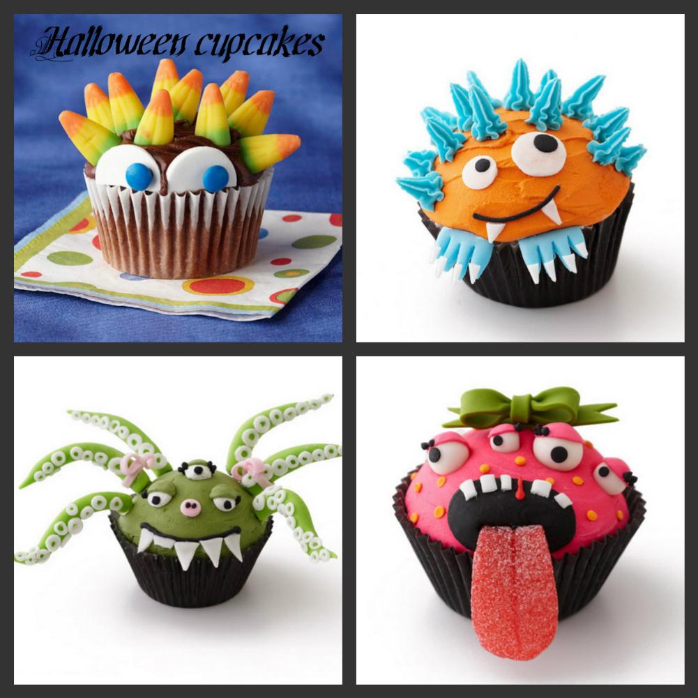 Cupcakes in creatividades halloween cupcakes ideas and for Halloween cupcake decorating ideas