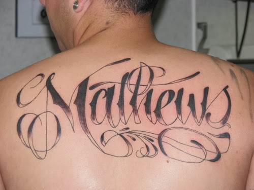 in style name tattoo designs