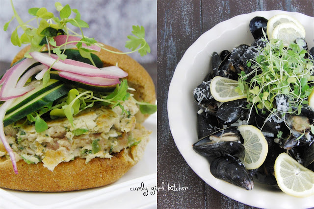 http://www.curlygirlkitchen.com/2013/05/steamed-mussels-and-thai-tuna-burgers.html