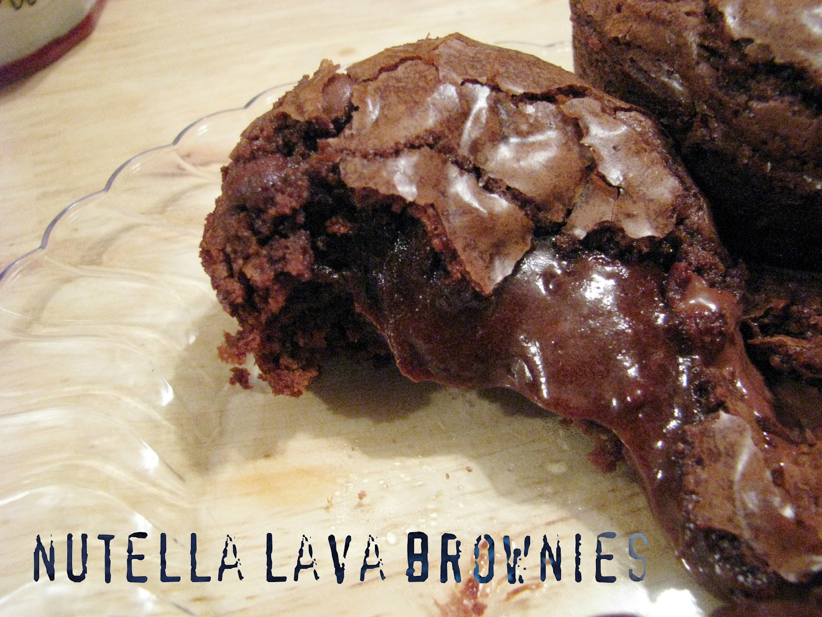 that's mellifluous!: nutella lava brownies