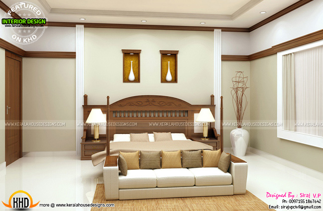 master bedroom interior design kerala type