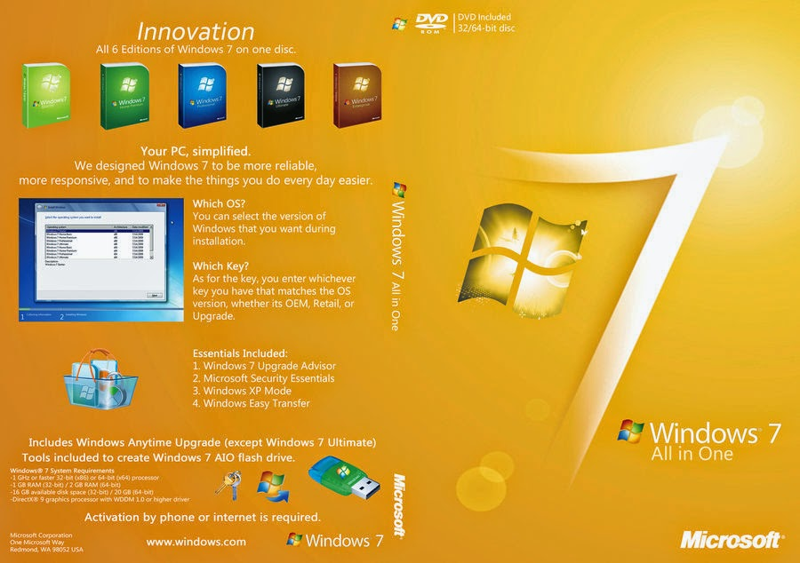 Windows 7 AIO 11in1 ESD PTBR Setembro 2016 Windows 7 AIO 11in1 ESD PTBR Setembro 2016 windows 7 aio dvd cover slim by digydigggers d38oii8