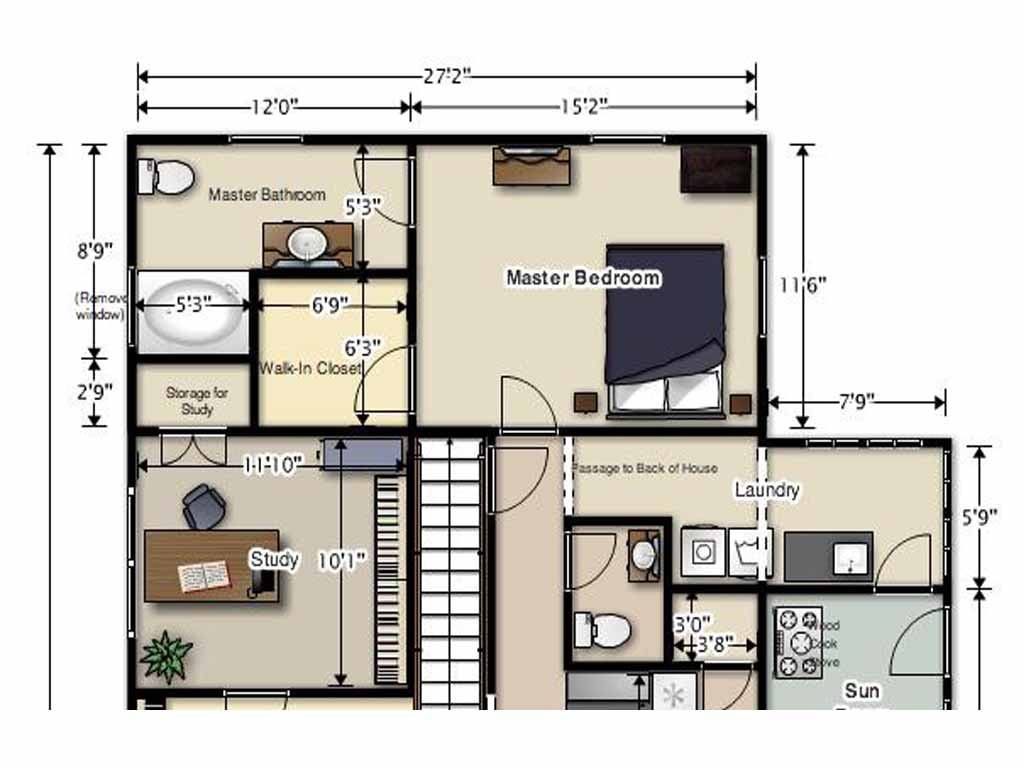 Master Bedroom Suite Floor Plan