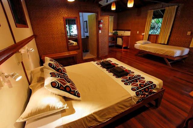 Our bungalow layout - Walindi Plantation Resort