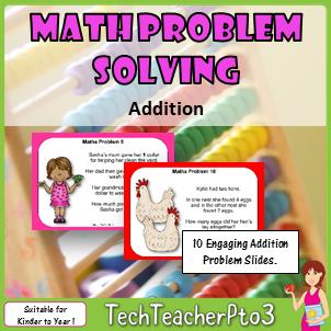 Math Problem Solving Slides: Addition
