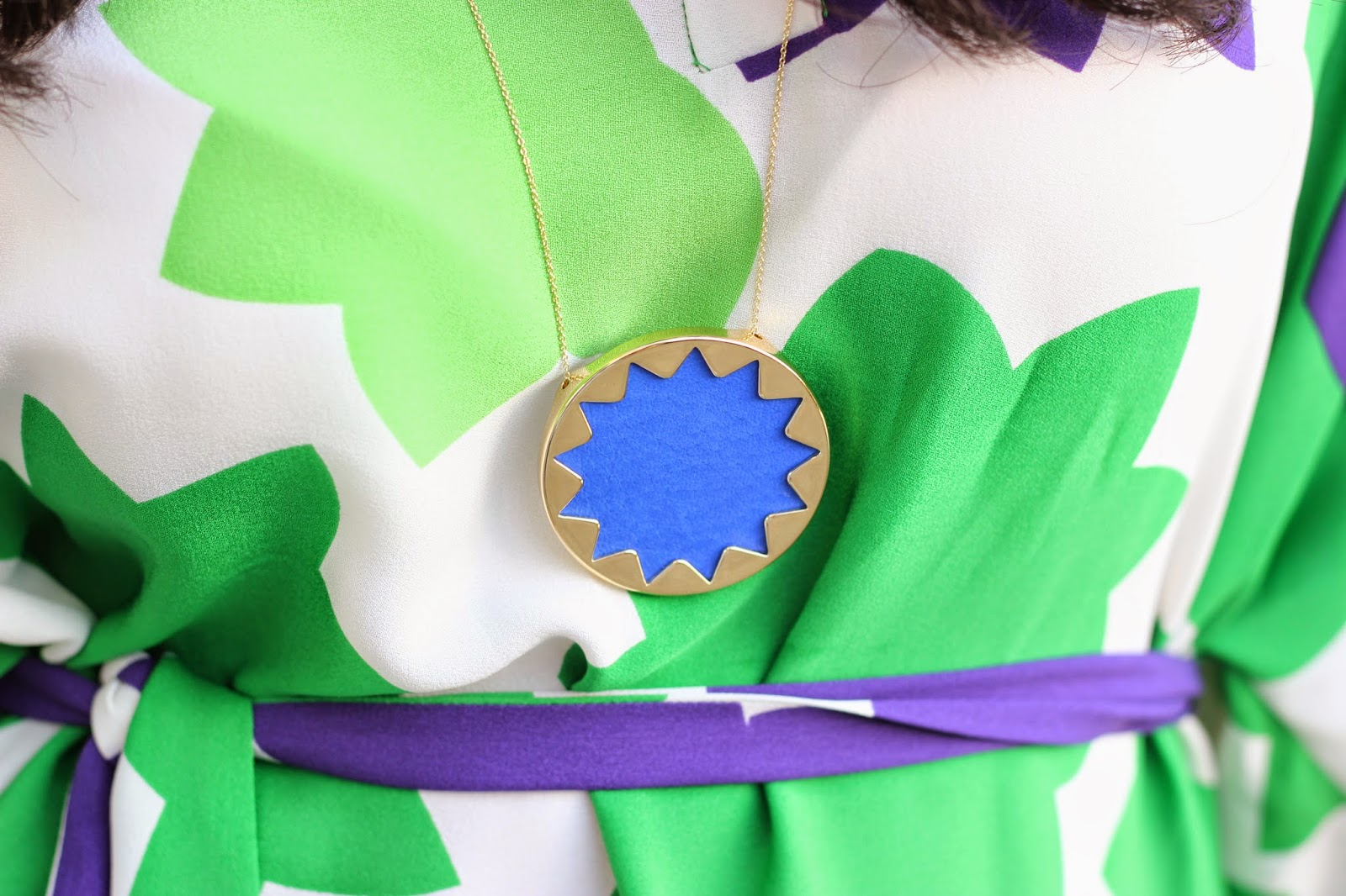House of Harlow Cobalt Sunburst Necklace