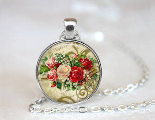 Digital Photo template for silver pendant