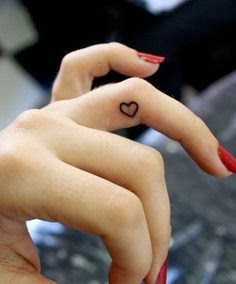 Cute Heart Tattoo On Finger