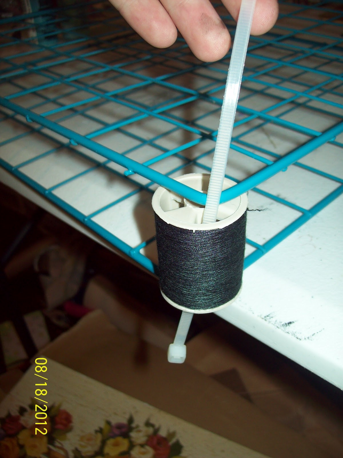 The Craft Donkey**: Tutorial- Wire Rack Paint Holder