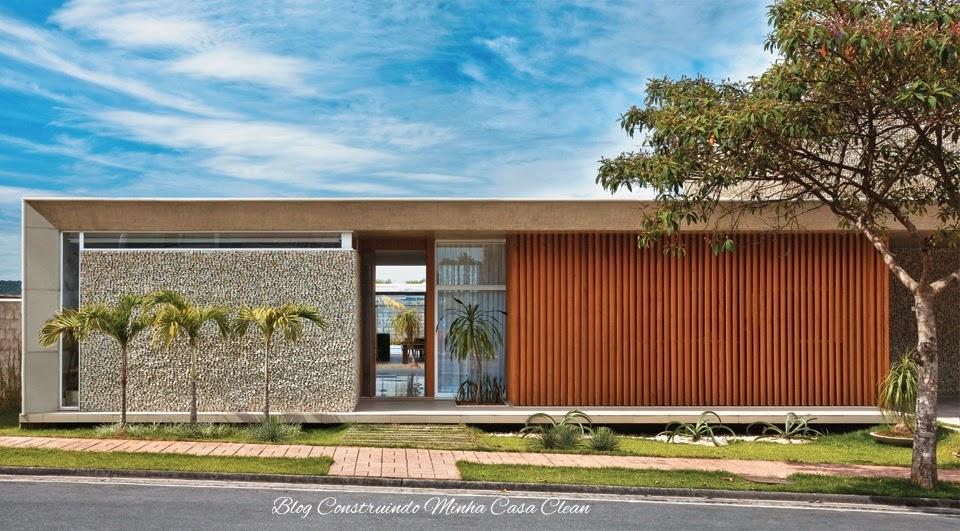 Construindo minha casa clean fachadas de casas modernas - Tipos de fachadas ...