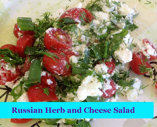 Russian Herb and Cheese Salad from Gluten Free A to Z