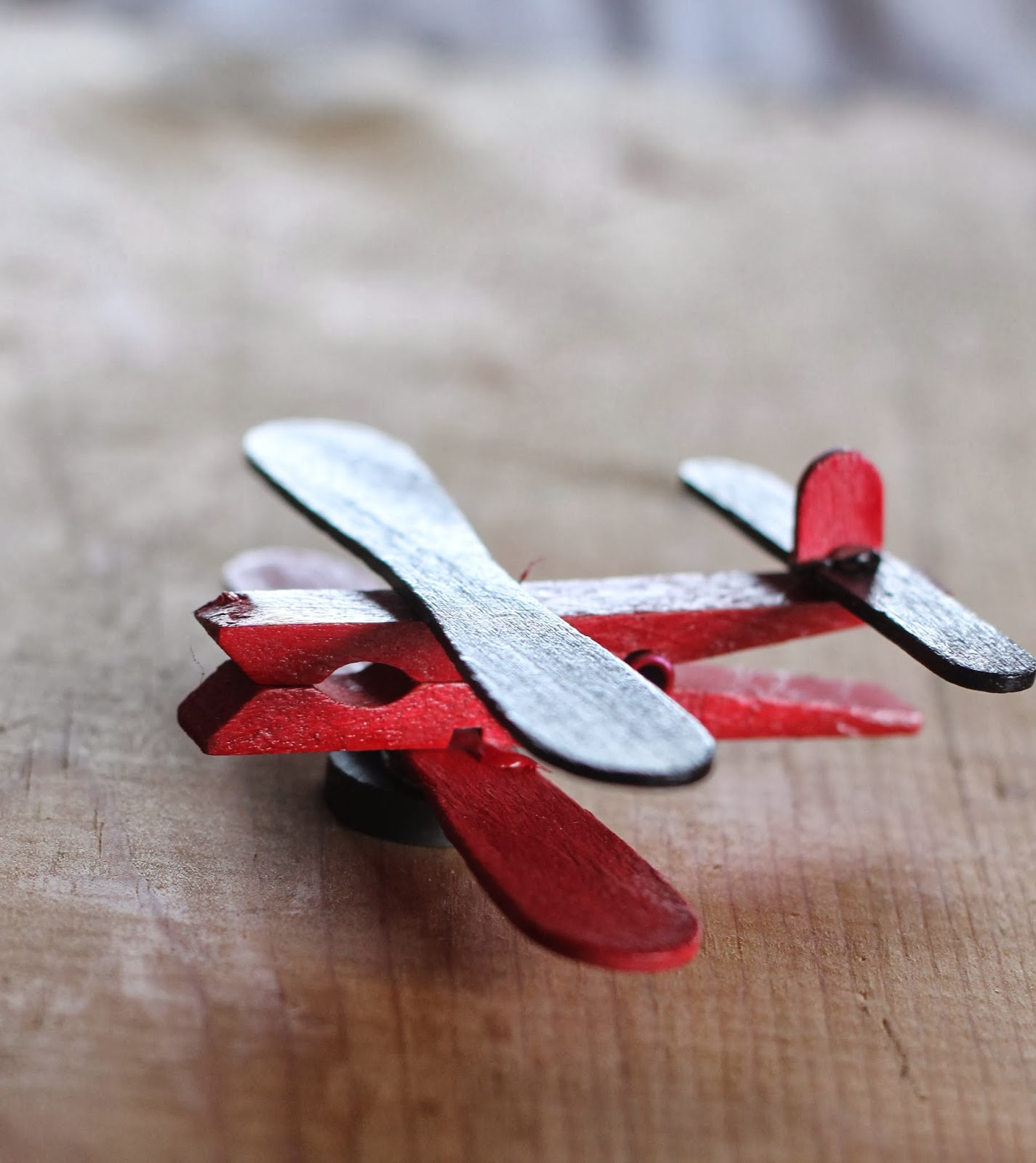 Where your treasure is clothespin airplane party favors for Close pin crafts