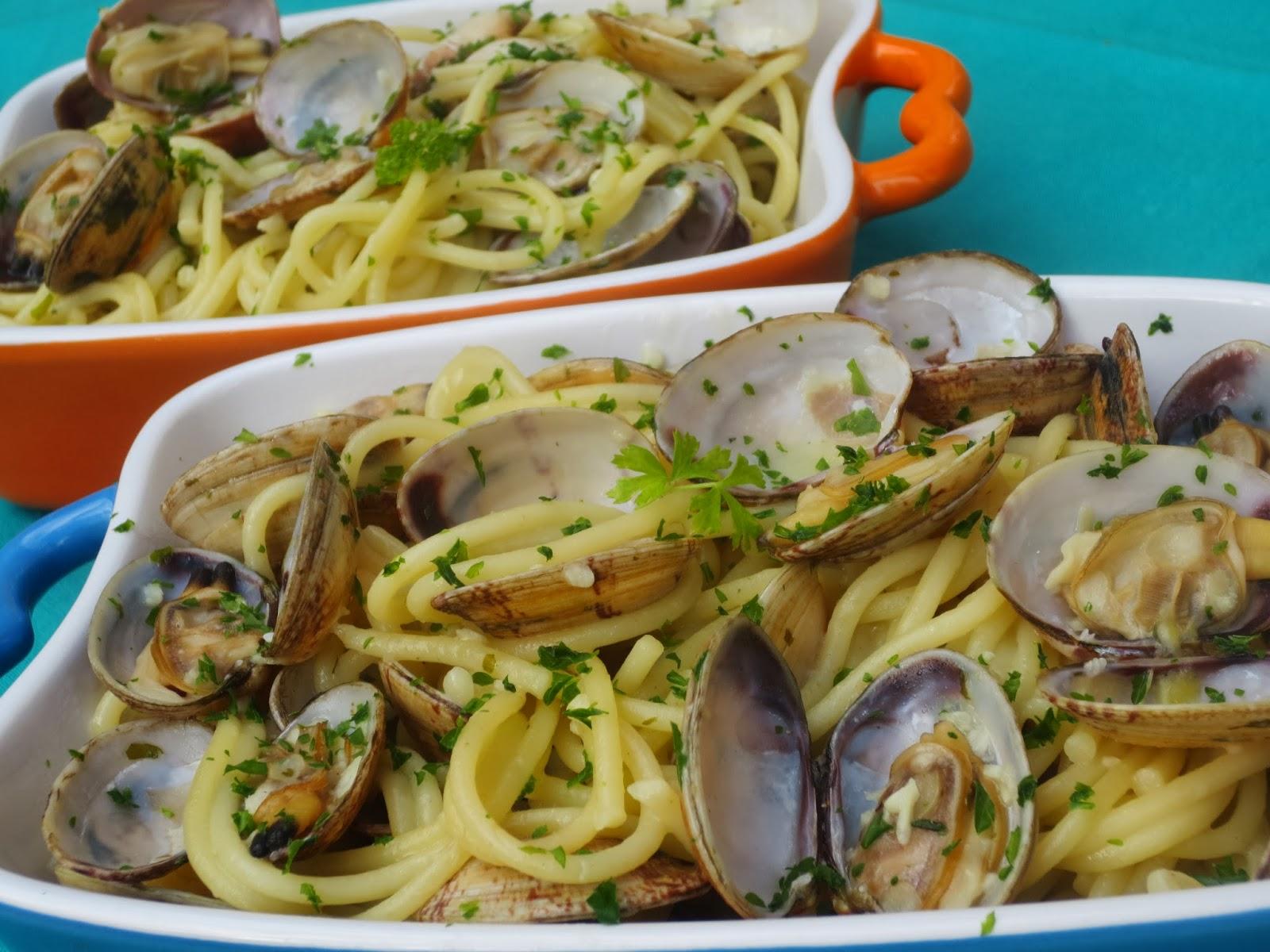 Espaguetis con almejas thermomix - Espaguetis con almejas ...