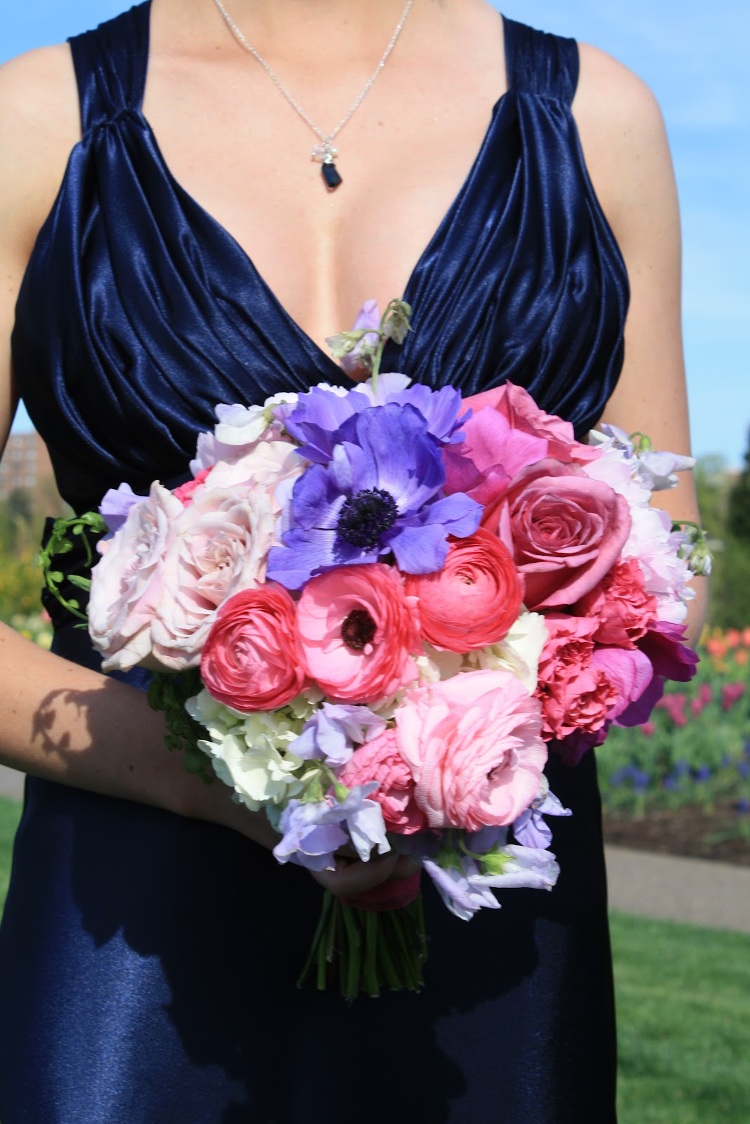 Garden roses, peonies, anemones, sweetpeas, ranunculus bouquet, Rose Bridal Bouquet, Rose Bouquet, Wedding Bouquet, Splendid Stems Wedding Flowers