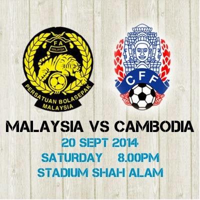 Malaysia vs Cambodia 20 September 2014