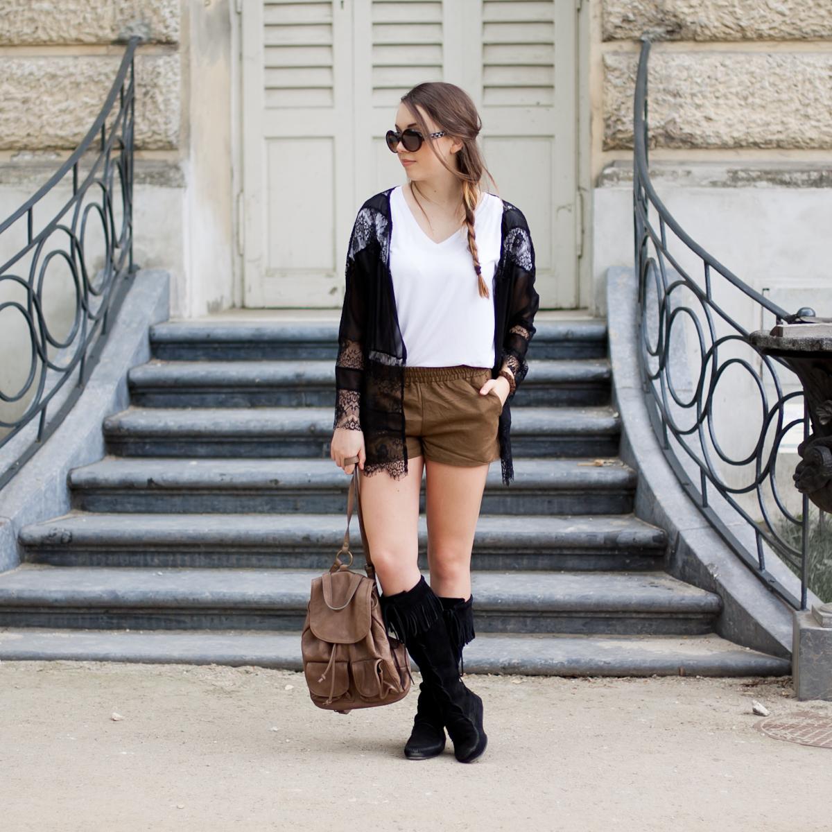 brązowy skórzany plecak