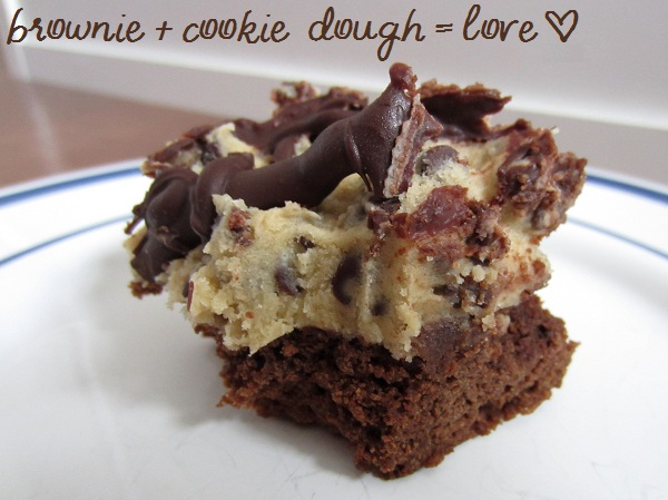 Thanks, Mail Carrier | Chocolate Chip Cookie Dough Brownies {Recipe}
