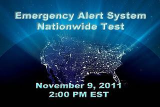 9 de Noviembre de 2011 prueba de alerta de emergencias EEUU