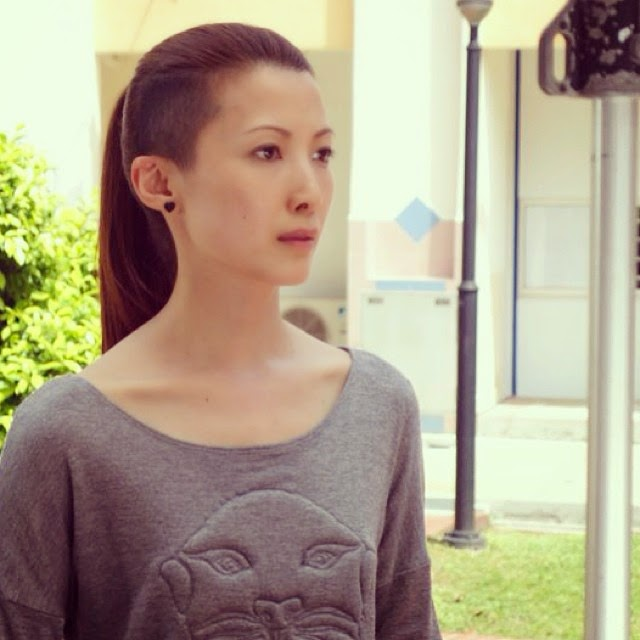 Lady Nape Singapore Actress Jeanette Aw With Side Shave Undercut