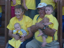 Grandma and Grandpa with two youngest babies