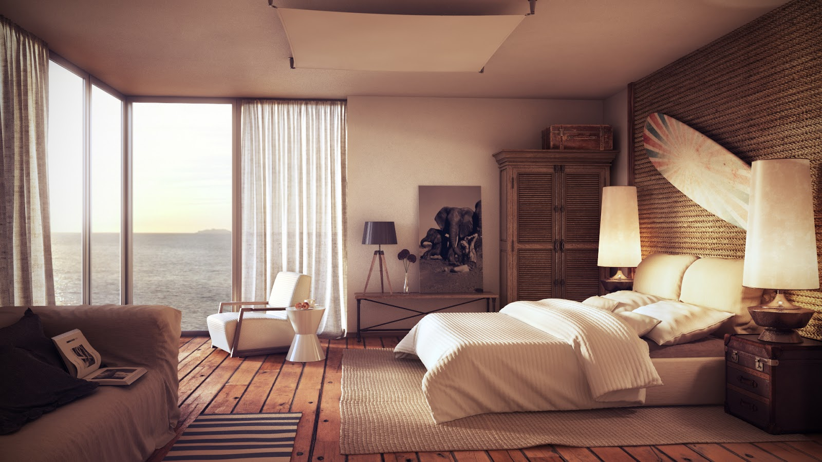 kamar+tidur+rumah+modern Desain Rumah Modern Dari Karya Brilian Arsitektur Uglyanitsa Alexander