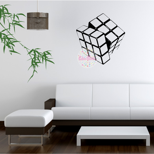 Vinilo decorativo pared cubo rubik cdm vinilos for Vinilos decorativos para entradas