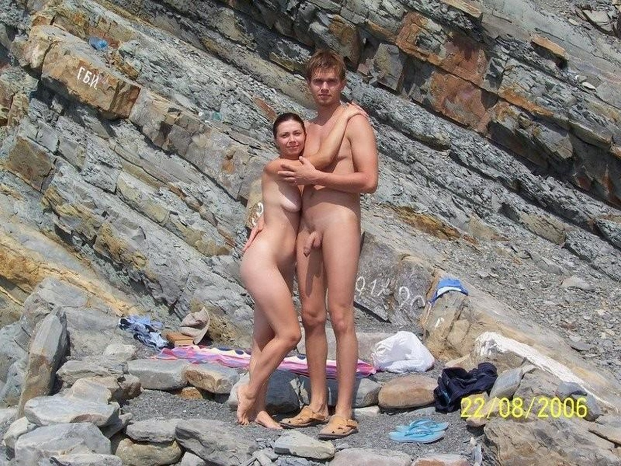 nude sister and brother beach