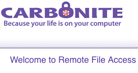 Carbonite Online Backup Service