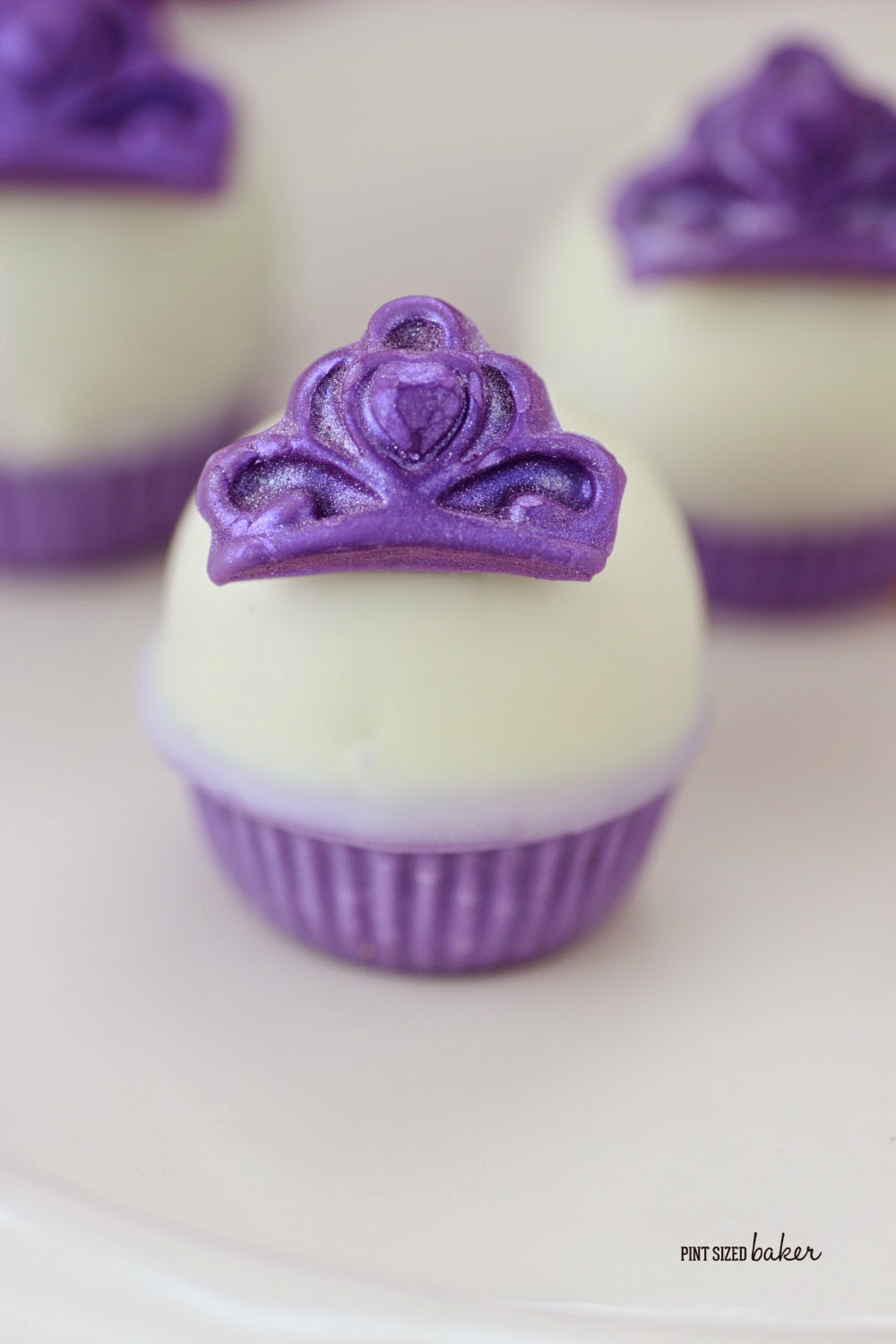 Simple and Elegant, that's what every princess wants! Sophia the First inspired cake truffles will be a huge hit!