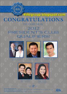 2012 and 2013 New 4Life President's Club Qualifiers!