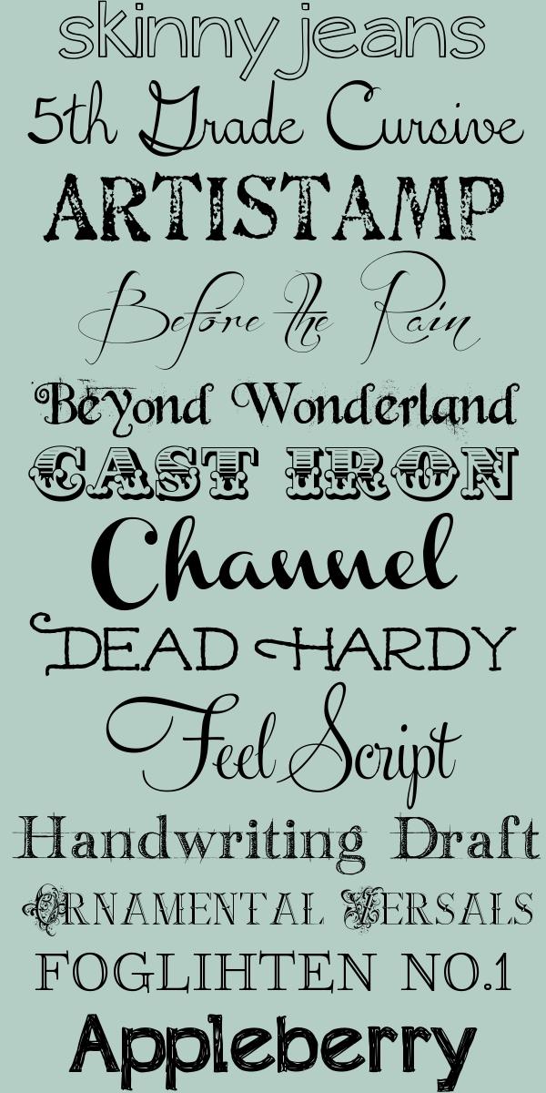 Grade Cursive Artistamp Before The Rain Beyond Wonderland Cast Iron Channel Dead Hardy Feel Script