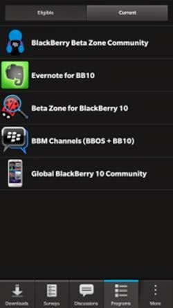 BlackBerry rilis fitur BlackBerry Beta Zone untuk BB10