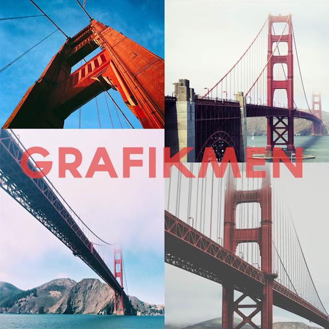Golden Gate Köprüsü 4 Adet Ücretsiz Fotoğraf