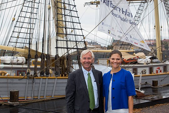 Crown Princess Victoria of Sweden attended in the Sustainable Seas Initiative Baltic Seminar on Kastellholmen in Stockholm