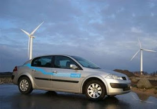 auto electrico y energia eolica